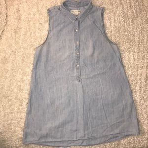Rag&Bone chambray sleeveless collar mini dress